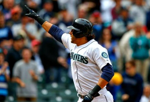 Mariners beat the Angels 2-1, winning their first series of the year, as Morse and Bay both go yard, and Iwakuma strikes out 8!