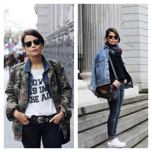 I'm not sure who this is, but I am loving her easy tomboy style. it is so relaxed, but still so put together! (images via: here & here.)