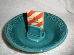 Statler Hotel Ashtray with Matchbook - Vintage by Mike Leavenworth on Flickr.texty matchbook.