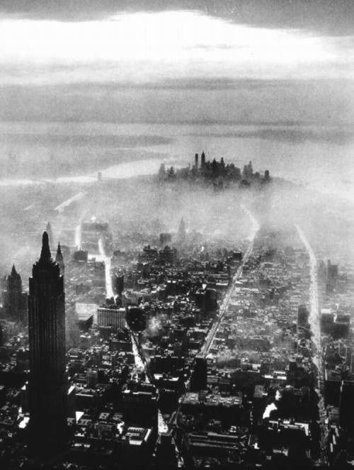 ratak-monodosico:  Aerial View of New York City, 1931