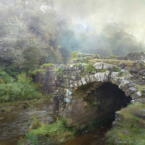 bluepueblo:  Ancient Stone Bridge, Yorkshire, England photo via darkface