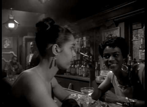 "Cicely Tyson and Carmen de Lavallade in a scene from the 1959 film ""Odds Against Tomorrow."" I made this screen grab for those of you who did not get through the 9-minute clip in the posts on Robert Earl Jones and Harry Belafonte. :)"