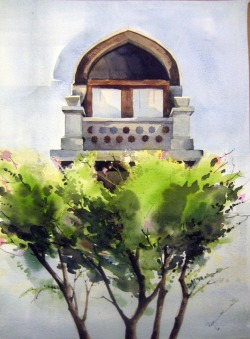 A watercolor I did a few years ago when I visited the Topkapi Palace in Istanbul.