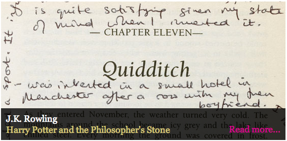Interactive: authors' musings on their first editions, including J K Rowling, William Boyd, Julian Barnes, P D James, Hilary Mantel and Alan Bennett. via Guardian.co.uk