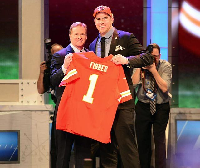 The Chiefs get their man, picking offensive lineman Eric Fisher with the first overall pick of the 2013 NFL Draft. (Michael J. LeBrecht/SI) GALLERY: Best Shots From NFL Draft Night
