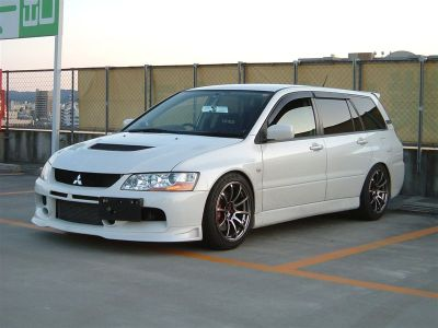 wagonation:  For the family on the go.  Mitsubishi Lancer Evolution IX Wagon.  EVO wagon!?