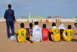 Happy Somali Youth Day! In celebration Mercy Corps is hosting a 10-day youth soccer tournament in Garowe, Somali. In communities recovering from conflict, Mercy Corps uses the power of play to bridge divisions and promote peacebuilding. Learn more about how Sport for Change is transforming lives. Photo: Lindsay Murphy/Mercy Corps