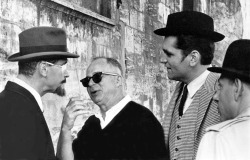 Jack Lemmon with Billy Wilder and Bruce Yarnell on the set of Irma La Douce (1963)