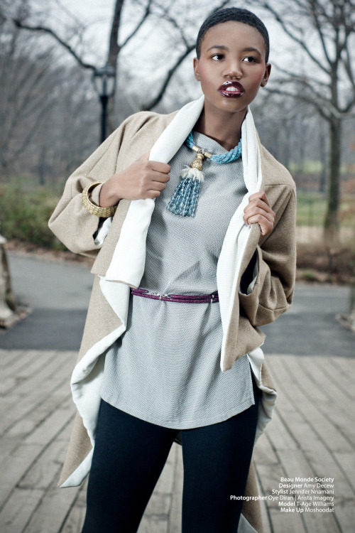 blackfashion:  Photographer: Oye Diran | Arista Imagery  https://www.facebook.com/PhotosByOye BMS founder/ Main stylist: Jennifer Nnamani Designer: Amy Decew Model: T-Age MUA: Moshoodat