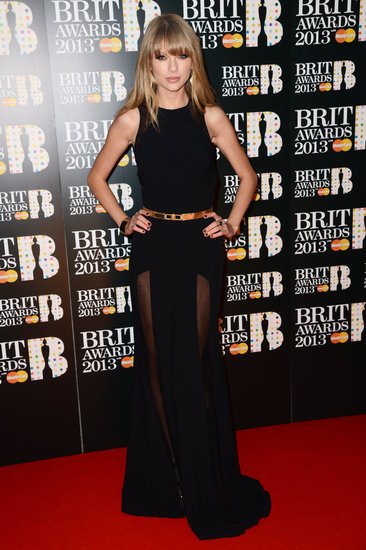 Taylor Swift at the Brit Awards 2013