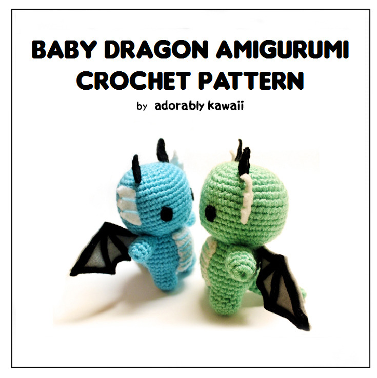 I decided to re-release the Dragon Amigurumi crochet pattern. I used to sell the pattern for these dragons in my Etsy shop a few years ago. The pattern is back up on Ravelry and for $3 USD.