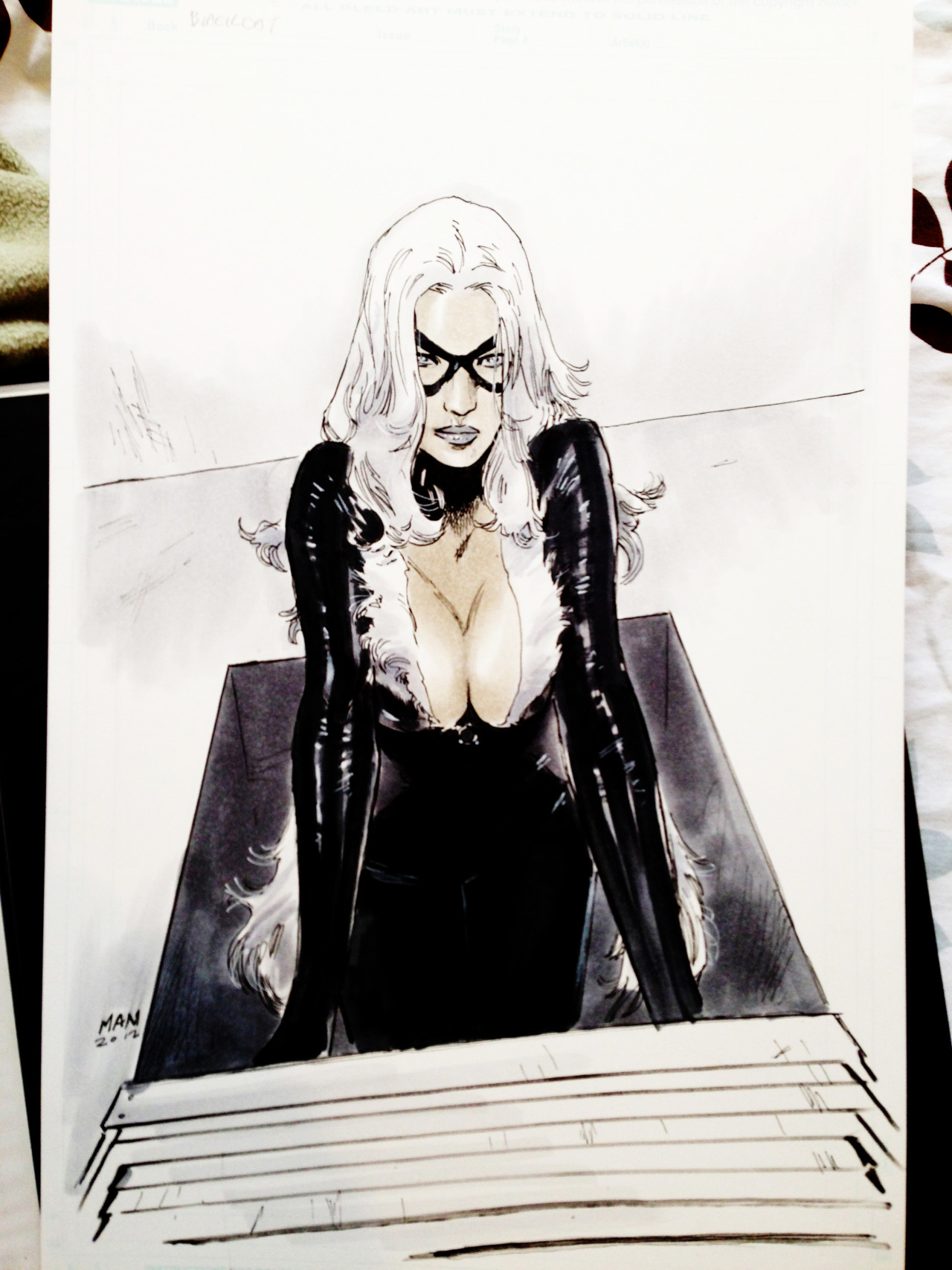 clay-mann:  I seem to get Black Cat a lot. -copics& inks