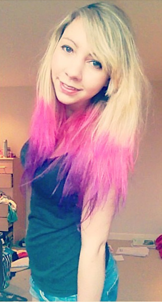 dip-dyed my hair m8