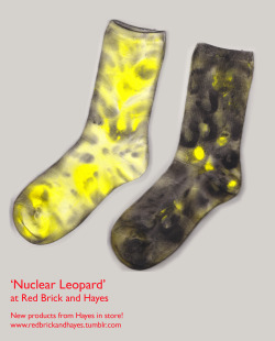 Hosiery Design, Hand Painted Socks for 'Red Brick and Hayes' shop, York. Bar Lane Studios. http://redbrickandhayes.tumblr.com/