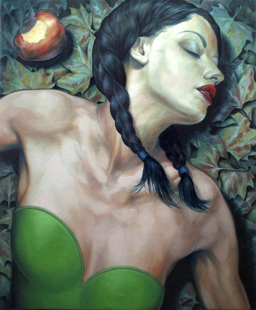 artmonia:  The temptation | Fran Recacha. Oil on canvas . 73 x 60 cm . 2010