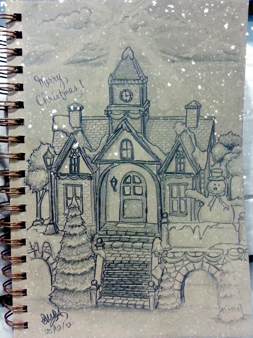 Another Christmas sketch! :)