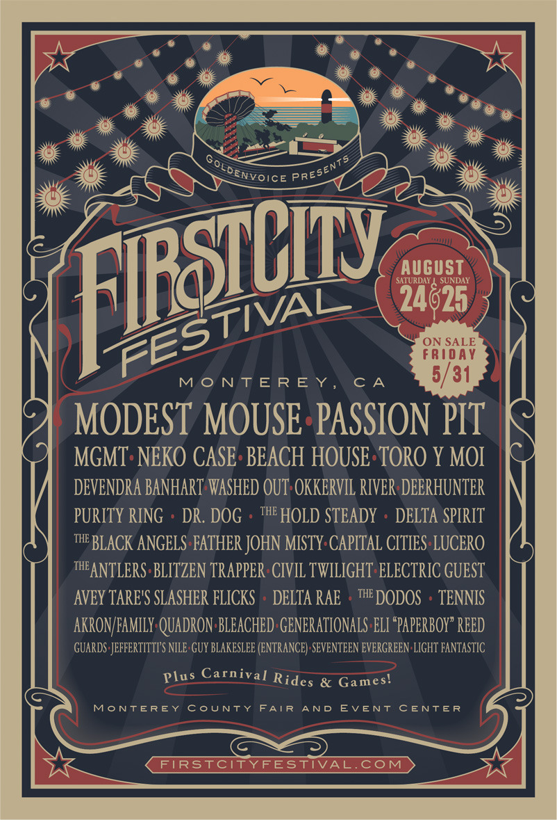 New Music Festival in our home county MONTEREY! Amazing lineup