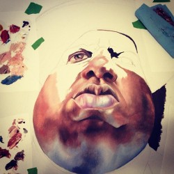 Biggie is coming together. #art #artwork #album #oilpainting #painting #workinprogress #wip #notorious