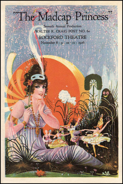 mudwerks:  (via The Pictorial Arts: Madcap) Theatre playbill — The Madcap Princess — 1926