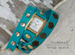 (via KRISTINA J.: How To Make a Studded Wrap Watch)