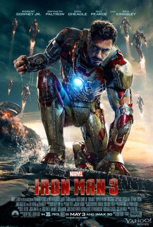 74/2013 Movie List 207. Iron Man 3 (2013) When Tony Stark's world is torn apart by a formidable terrorist called the Mandarin, he starts an odyssey of rebuilding and retribution.   Director:  Shane Black  Writers:  Drew Pearce (screenplay), Shane Black(screenplay), 4 more credits »  Stars:  Robert Downey Jr., Gwyneth Paltrow, Don Cheadle |See full cast and crew