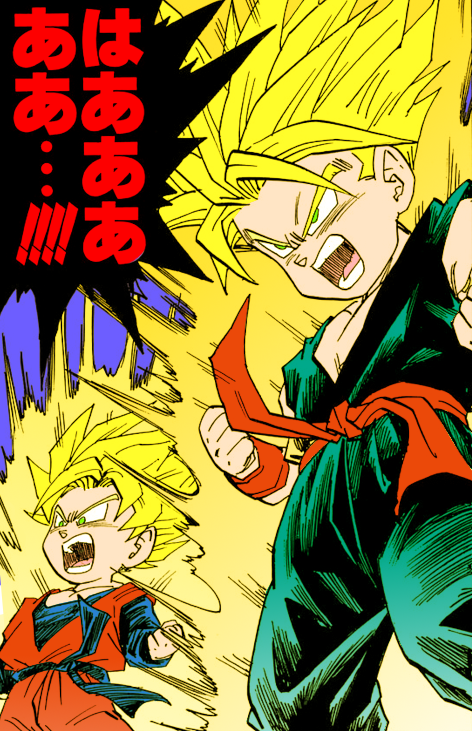 blind-bandit:  Young Super Saiyans