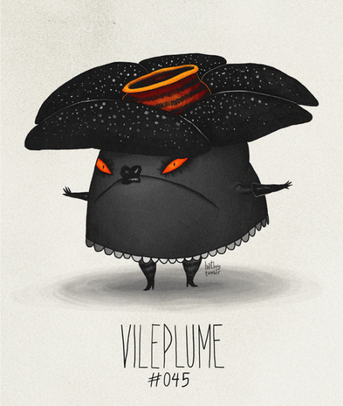 Vileplume #045 Part of The Tim Burton x PKMN Project By Vaughn PinpinOne of my favorite poison types.
