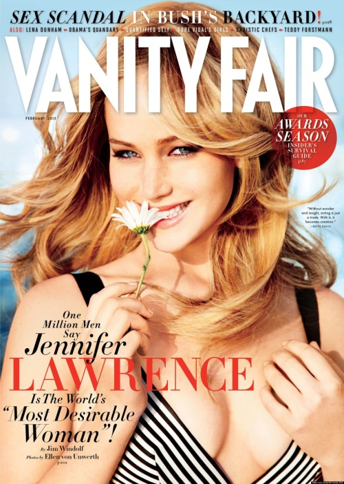 "shortergirl:  killette:  Jennifer Lawrence  ""World's most desirable woman""… Sigh. Missing the point of Jennifer Lawrence much? (I'm not a fan of valuing anyone by that particular metric, of course.)  Yeah, she's pretty and all that, but I like her because she's funny and genuine and all that shit. Damn media!"