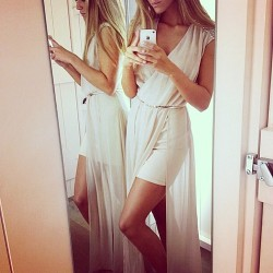 girl dress party white perfect