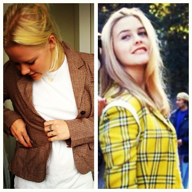 Gum Tweed Jacket is a Cher's Preppy Dream! Rose loves hers to bits! More English Rose range in store now 🌹🌹🌹#clueless #cher #tartan #tweed