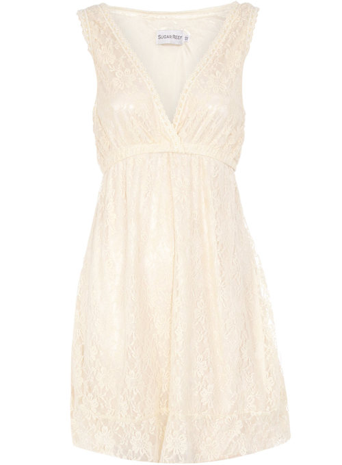 Cream Lace Dress by Dorothy Perkins