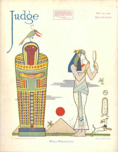 The May 1919 cover of Judge magazine