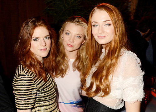 Rose Leslie, Natalie Dormer and Sophie Turner at HBO's Game Of Thrones Season 3 San Francisco Premiere