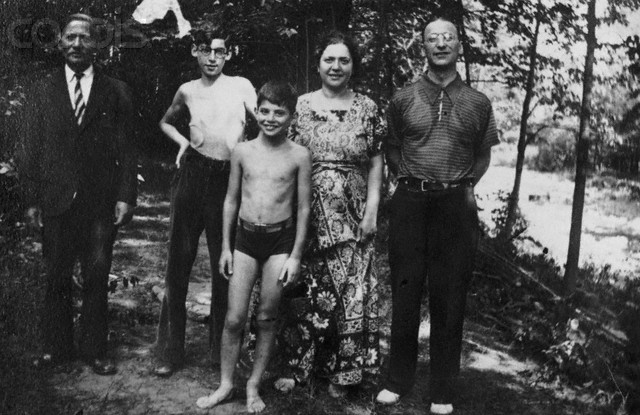 "Photo: 10-year-old Allen Ginsberg (center) with his Uncle Mendel, Brother Eugene, Mother Naomi, and Father Louis. Allen Ginsberg began journaling in 1937 when he was 11 years old - many of his early journals are now published. The entry below was written on May 22, 1941 when Allen was 15 years old. ""Don't mind my succession of different thoughts. I have a lot to say. As I said, I am writing to satisfy my egotism. If some future historian or biographer wants to know what the genius thought and did in his tender years, here it is. I'll be a genius of some kind or other, probably in literature. I really believe it. (Not naively, as whoever reads this is thinking). I have a fair degree of confidence in myself. Either I am a genius, I'm egocentric, or I'm slightly schizophrenic. Probably the first two."" Ginserg, Allen. The Book of Martyrdom and Artifice: First Journals and  Poems, 1937-1952. ed. Juanita Liebermann-Plimpton and Bill Morgan. Da Capo Press: 2006, 14."
