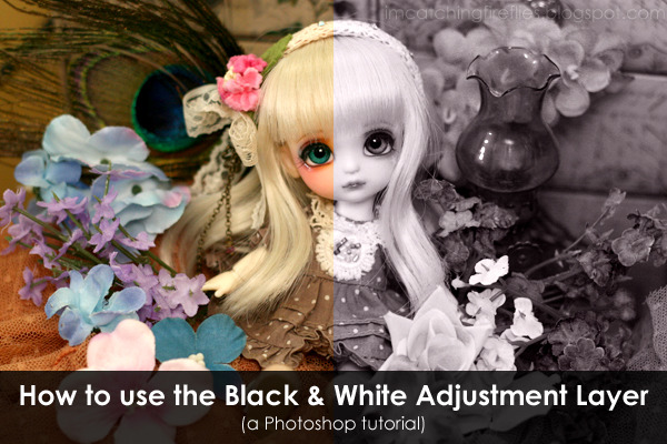 BLOGGED: How to use the Black & White Adjustment Layer in Photoshop  Here's a quick and easy Photoshop tutorial that you can use to improve your photos! This time, I'm going to teach you how to use the Black & White Adjustment Layer. It's a great way to make your photos more dramatic.Click through the photo to read the tutorial!