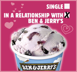 Two dates are better than one! Happy Valentine's Day! Love, Ben & Jerry's!