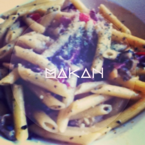 Penne Olio w/ Beef Bacon and Mushrooms; Tappers Cafe, Jaya One