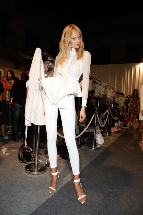rougevision:  Magdalena Frackowiak at Givenchy Ready to Wear Spring - Summer 2012 Backstage.