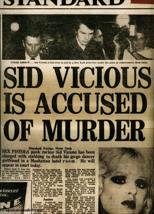 updownsmilefrown:  Sid Vicious is Accused of Murder