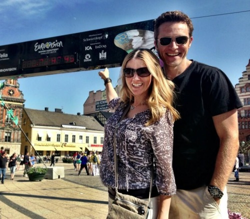 seamuspatrickdever:  @CleverDever Walking around #Malmö, soaking up the pre-show Eurolicious-ness w @seamusdever.