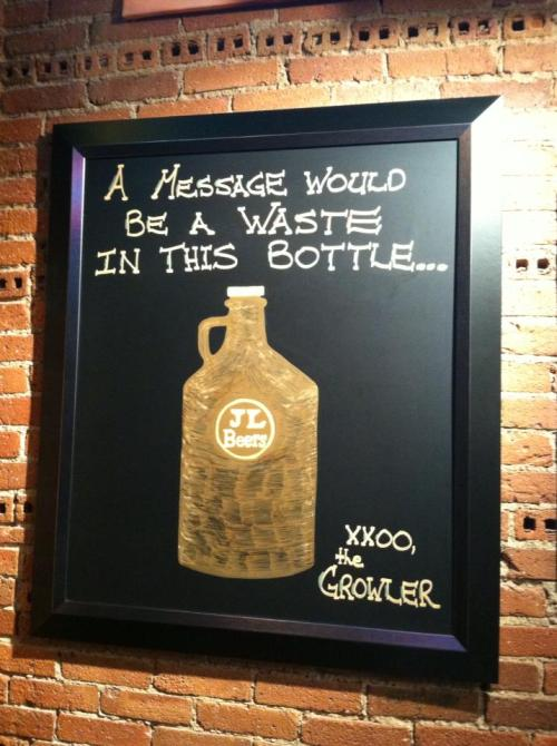 The Growler speaks out! @ JL Beers