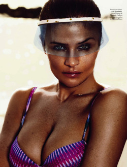 iowntherunway:  Embody the Summer Helena Christensen by Xavi Gordo for ELLE Spain May 2013 See more from this set here