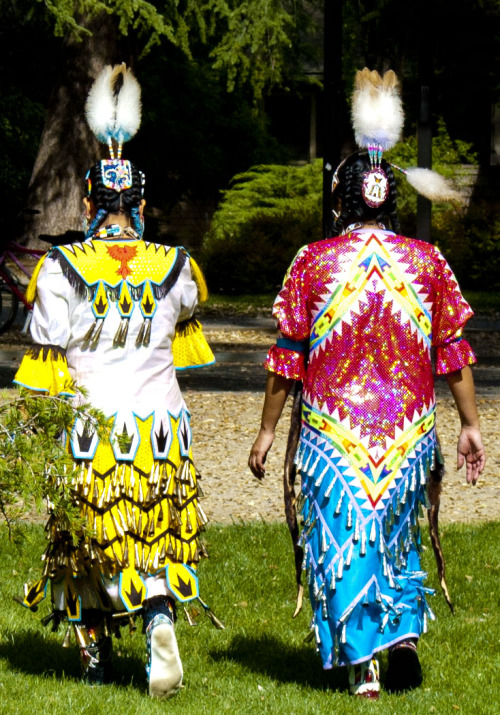 Two women @ Powwow 2013: East Quad. UC Davis, 04-13-13.