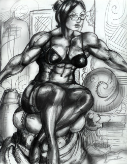 50's Pinup Muscle Girl by ~Matthew1981