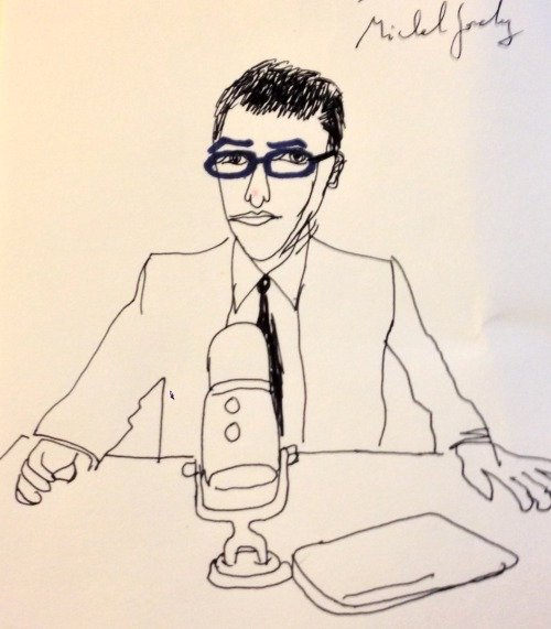Michel Gondry did a portrait of me and here it is.