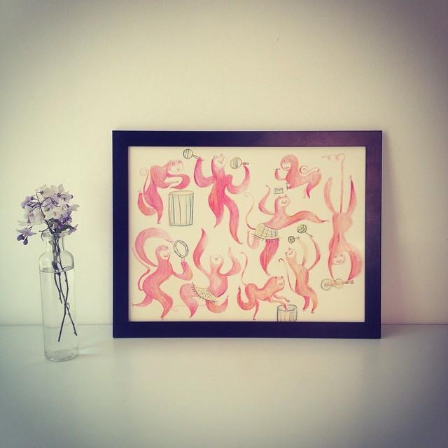 http://migueltanco.com/producto/original-art-musician-monkeys/ original art