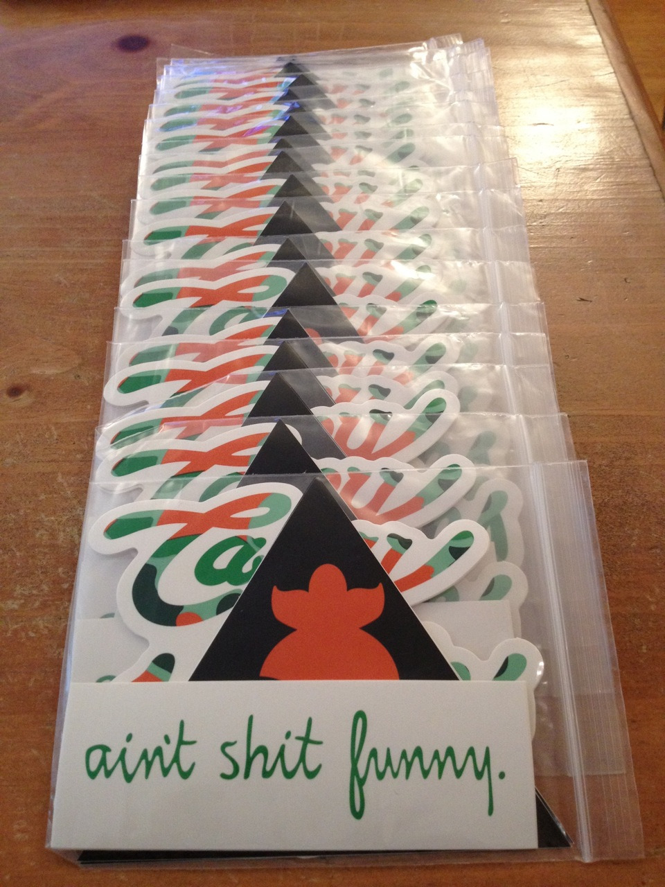 Available @ shop.peasncarrotsintl.com, Casey Veggies & Ain't Shit Funny Sticker Packs Coming Soon