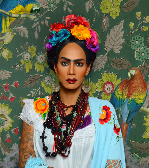 infantdressingtable:  Raja as Frida Kahlo