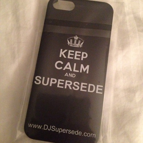 Got the first Supersede iPhone case prototype in today. Going to make some tweaks and then I'll be giving them out at my gigs this summer!