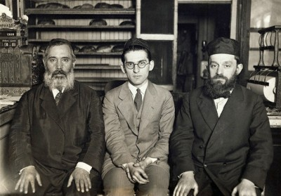 Meet Rabbi Hyman Ezra Cohen (center), he's 18, the country's youngest rabbi at Bnai Moishe, speaks 5 languages and has plans for the upcoming year to get married and grow a beard, 1922, Chicago